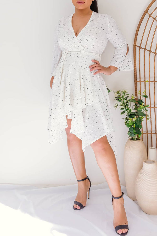 MYCAH POLKA DOT WRAP DRESS - Two Sisters Instyle