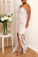 PRINCESS MAXI DRESS -SILVER - Two Sisters Instyle