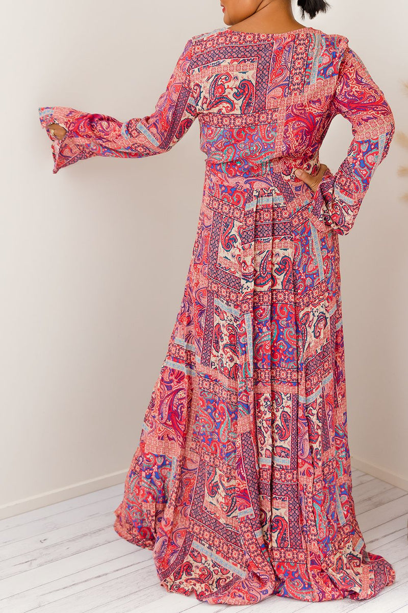 ROZALINO WRAP MAXI DRESS - Two Sisters Instyle