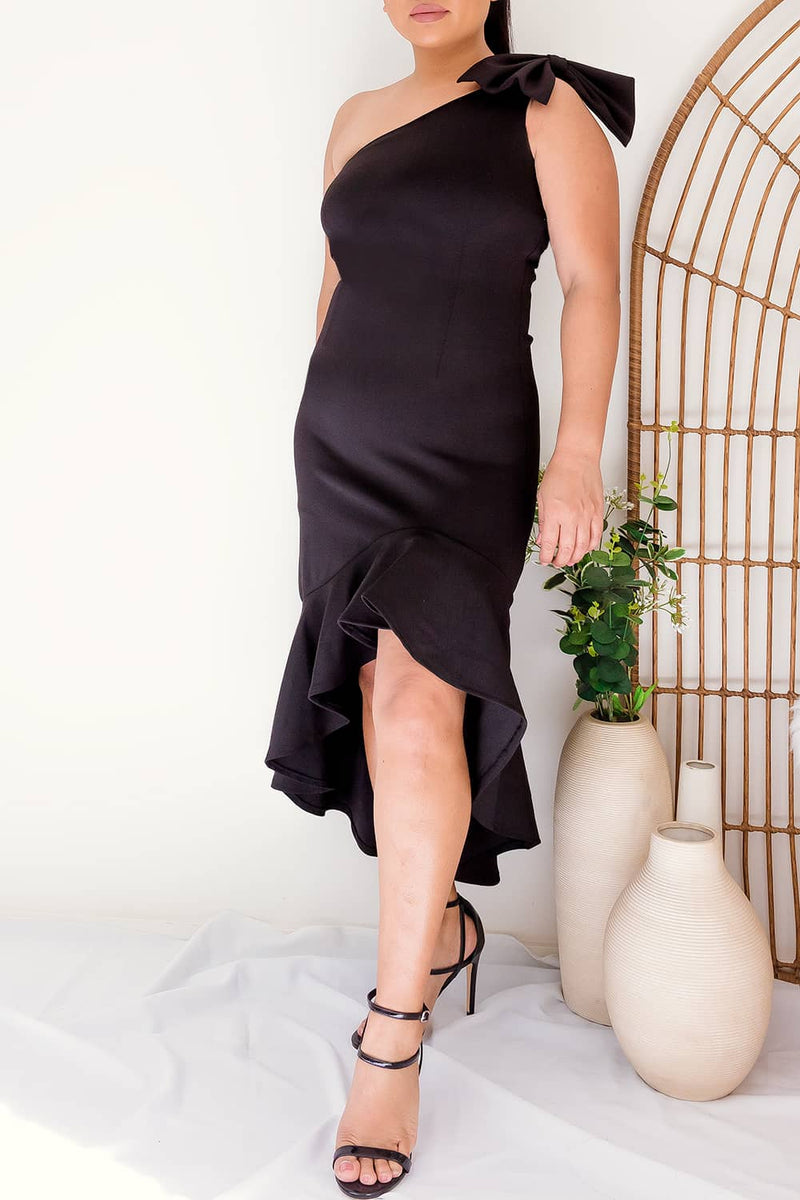 REGINA DRESS -BLACK - Two Sisters Instyle