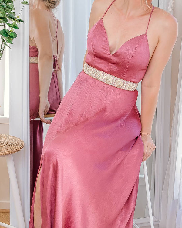 ROSE MAXI DRESS -PINK - Two Sisters Instyle