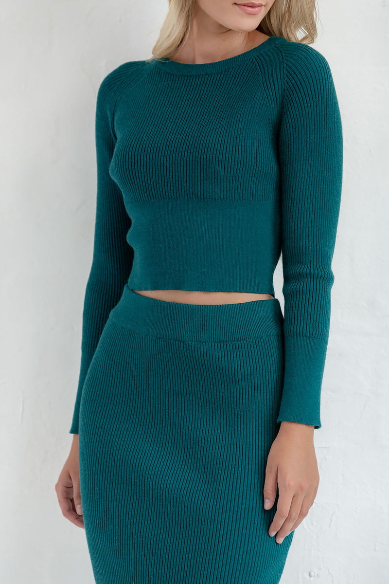 FELICIANA KNIT SET - JADE - Two Sisters Instyle