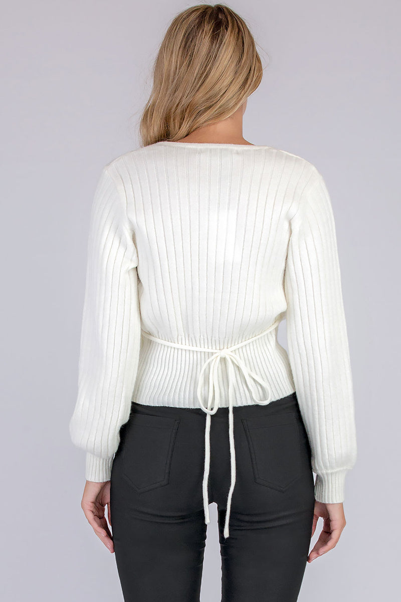 AUDREY KNIT TOP - WHITE - Two Sisters Instyle