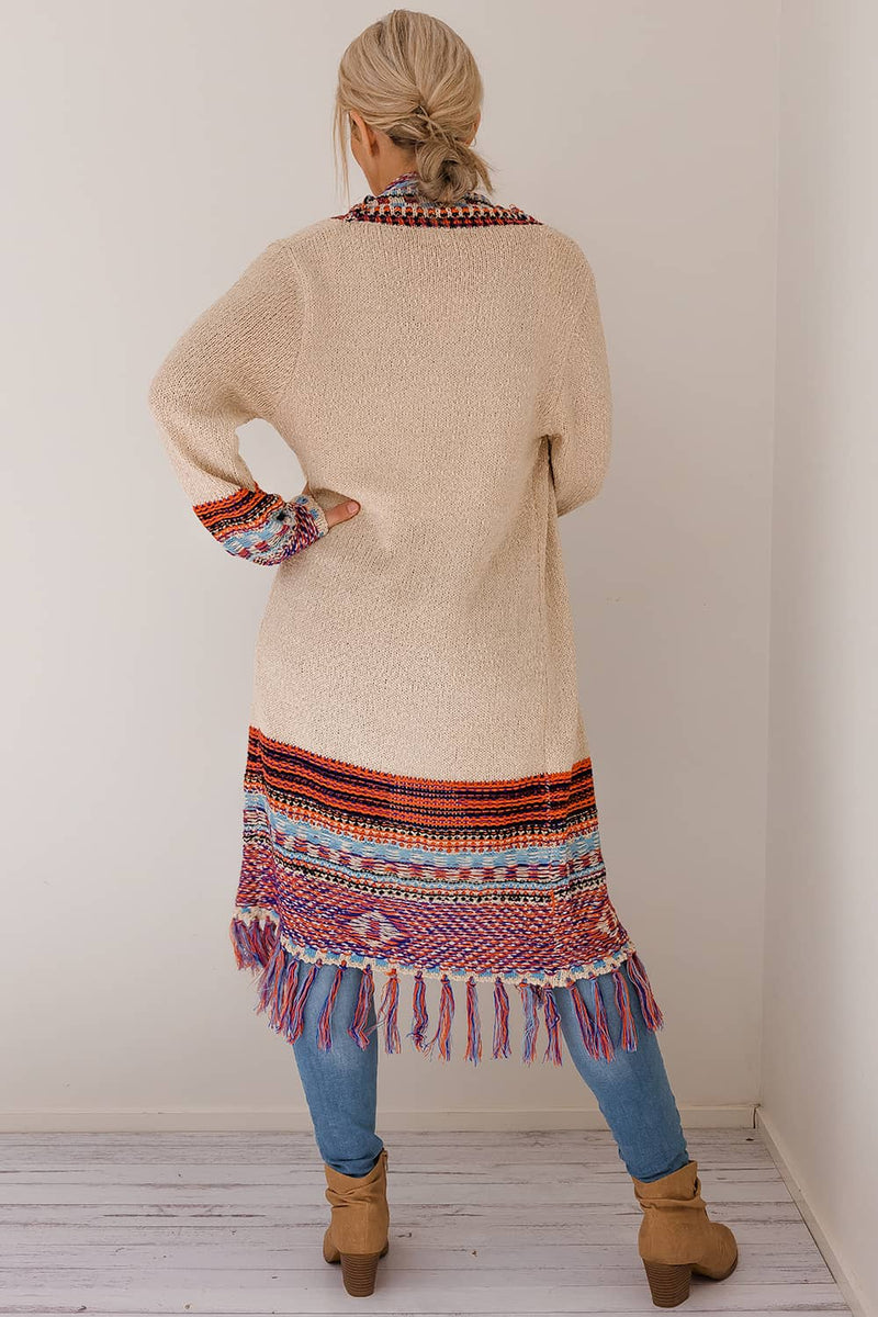 SADIE BOHO KNIT CARDIGAN - PURPLE - Two Sisters Instyle
