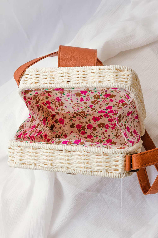 boho shoulder wven rattan bag
