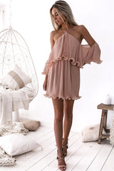 SICILY DRESS - DUSTY PEACH - Two Sisters Instyle
