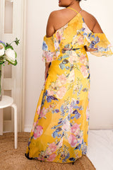YOLANDA FLORAL DRESS - YELLOW - Two Sisters Instyle