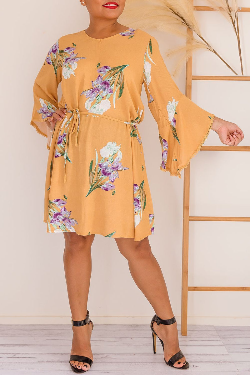 PAIGE DRESS - MUSTARD - Two Sisters Instyle