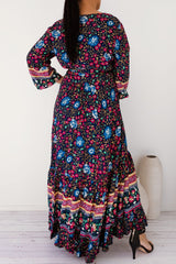 ZOEY FLORAL DRESS - NAVY - Two Sisters Instyle
