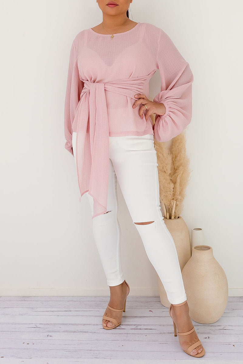 ZARA TOP - BLUSH - Two Sisters Instyle