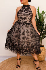 ABBY TULLE DRESS-BLACK - Two Sisters Instyle