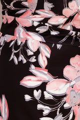 BEXLEY FLORAL DRESS-BLACK/PINK - Two Sisters Instyle