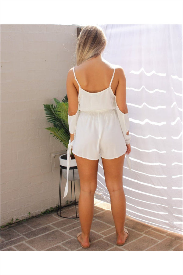 Breathe Again Cold Shoulder Playsuit - Two Sisters Instyle