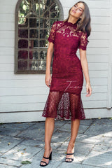 CRYSTAL DRESS - RED - Two Sisters Instyle