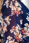 JASMINE FLORAL PRINTED DRESS IN NAVY - Two Sisters Instyle