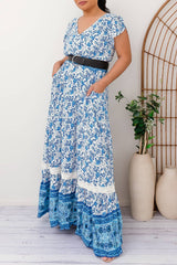 KENDRA MAXI DRESS-BLUE - Two Sisters Instyle