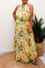 MAGNOLIA CRINKLE MAXI DRESS-YELLOW - Two Sisters Instyle
