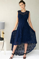 NENITA LACE DRESS IN NAVY - Two Sisters Instyle