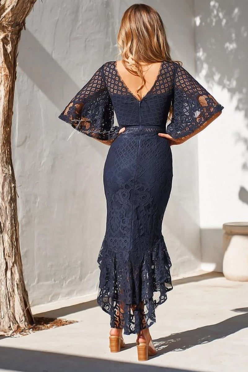 REYNA DRESS - NAVY - Two Sisters Instyle