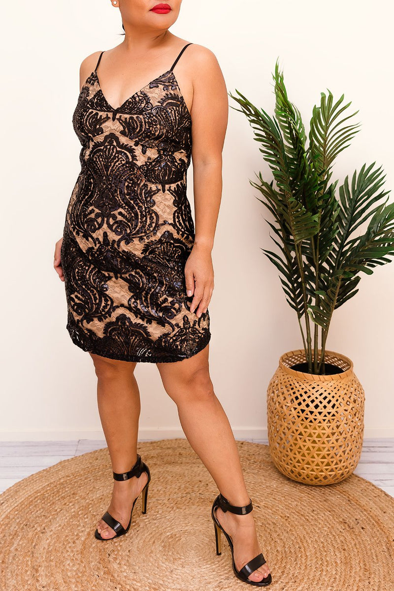 ROSABELLE SEQUINS MINI DRESS- BLACK - Two Sisters Instyle