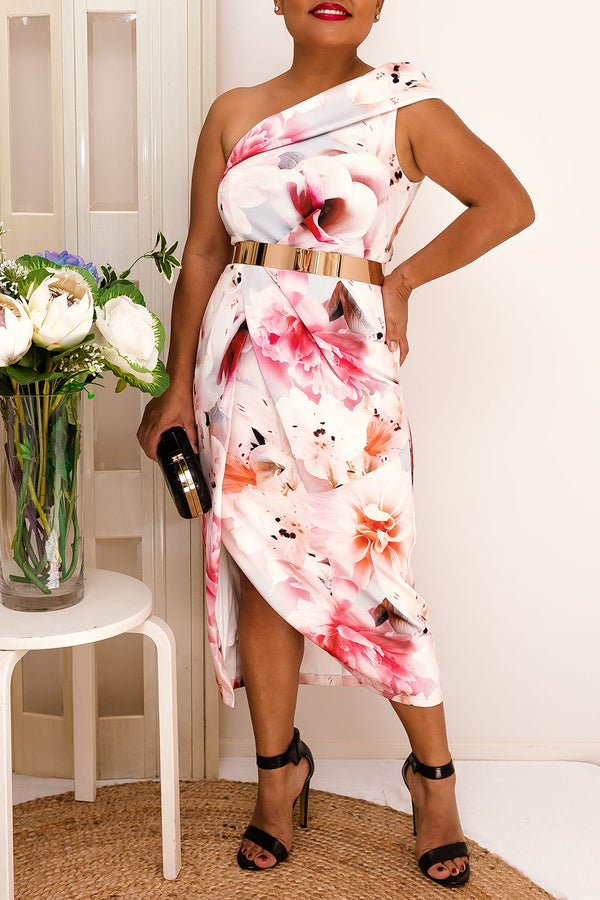 SILVIA FLORAL DRESS-PINK - Two Sisters Instyle