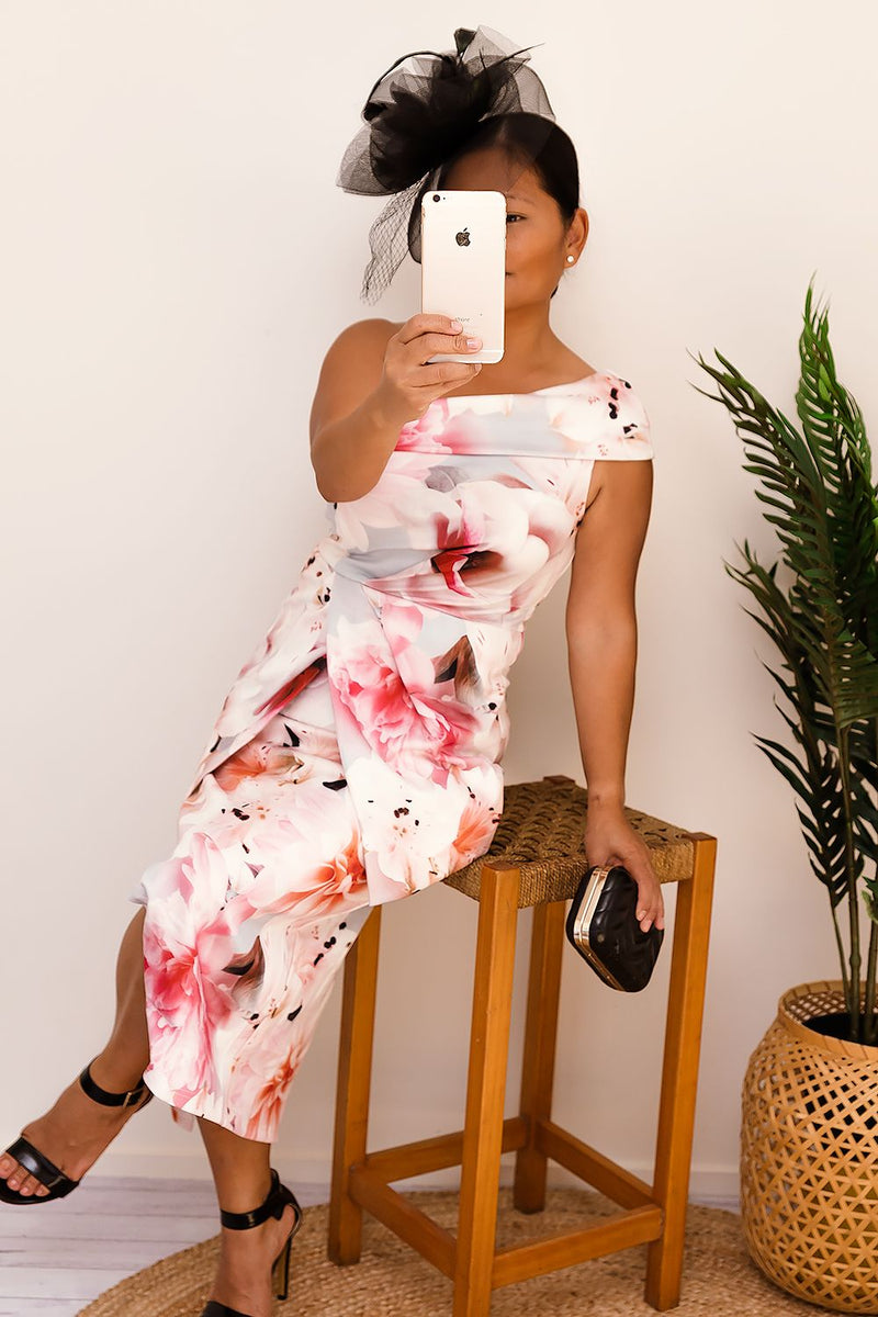 SILVIA FLORAL DRESS-PINK-Two Sisters Instyle