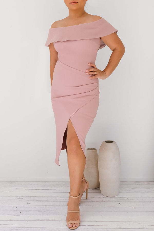 SINEAD OFF SHOULDER DRESS-LILAC - Two Sisters Instyle