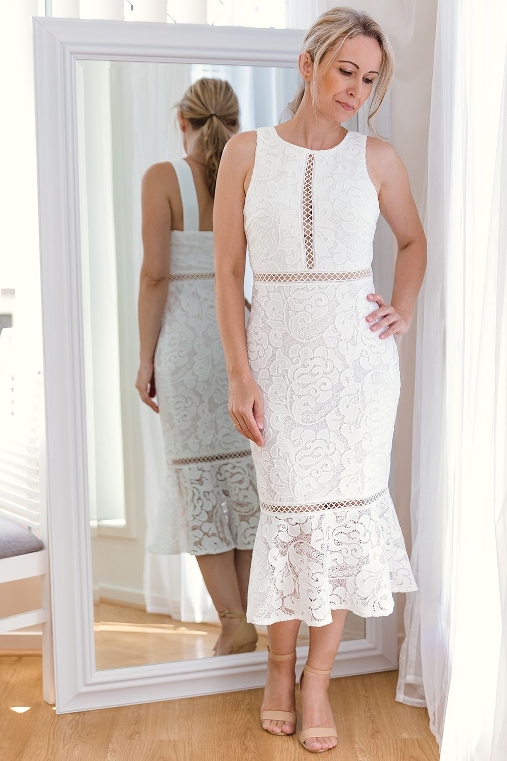 TIA DRESS-WHITE - Two Sisters Instyle
