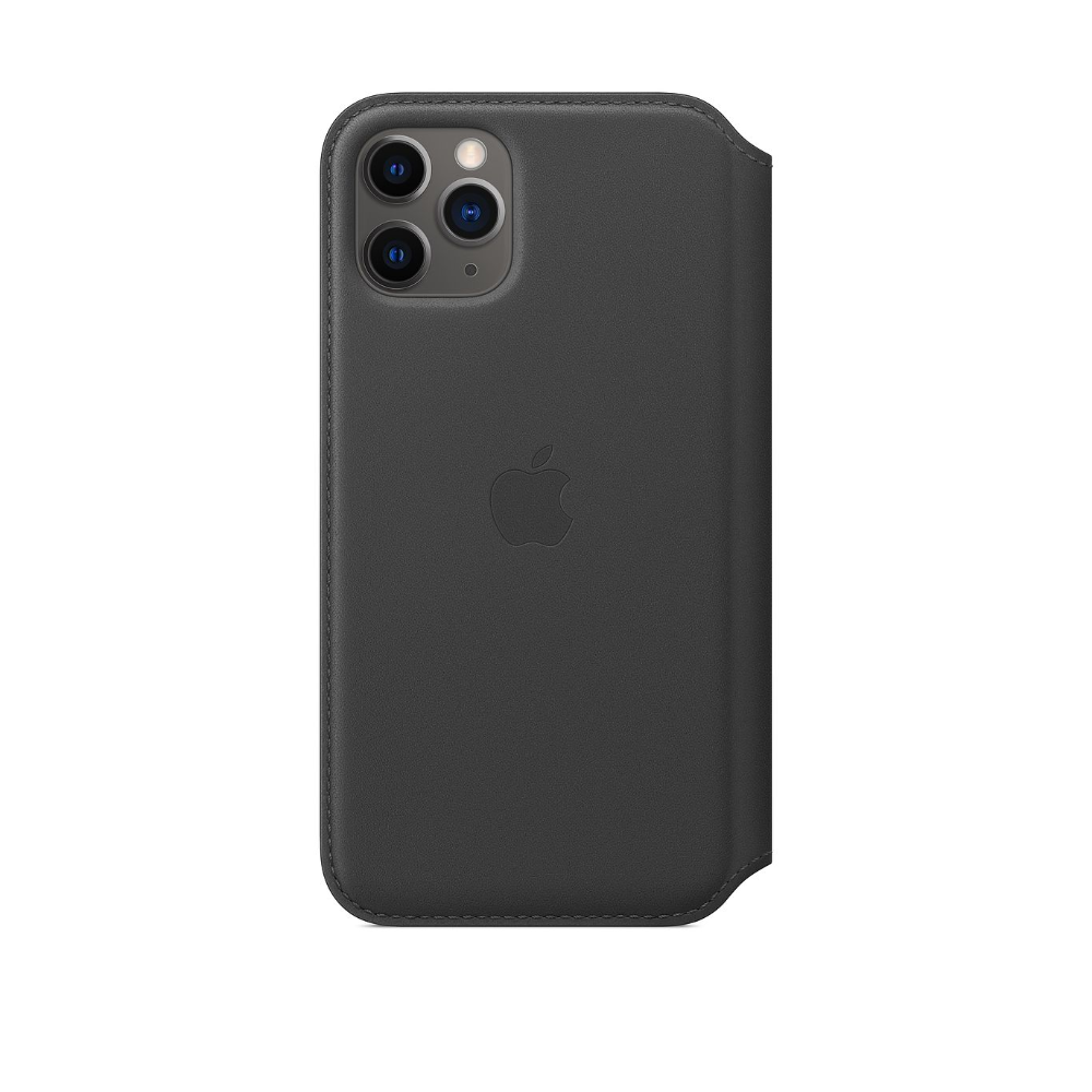 iPhone 11 Pro Leather Folio Case | Black