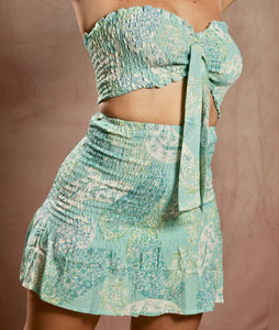 Mint Top & Skirt Set