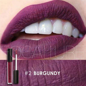 Waterproof Matte Liquid Lipstick Burgundy Lip Gloss