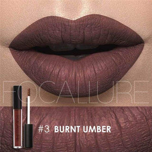Waterproof Matte Liquid Lipstick Burnt Umber Lip Gloss