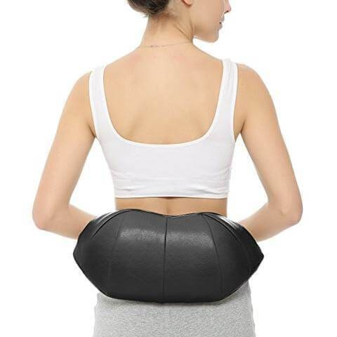 Shiatsu Massager from behind