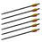 Aluminum Crossbow Arrows Bolts Shaft Steel Black Half Moon 2219 - 6/Pack