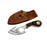 "Bone Collector 7"" Overall Handle Guthook Short Skinner W/Leather Sheath"
