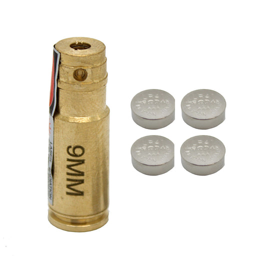 9-mm Laser Bore Sighter Aluminum Small Brass For Pistol Rifle