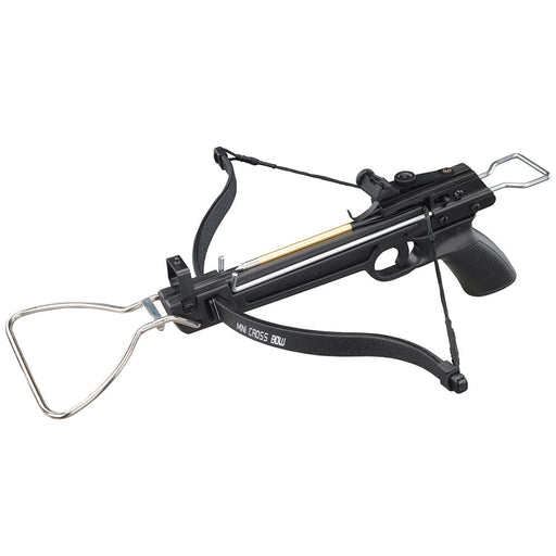 Rogue 80 lbs 160 FPS Pistol Crossbow with 3 Arrows - Black