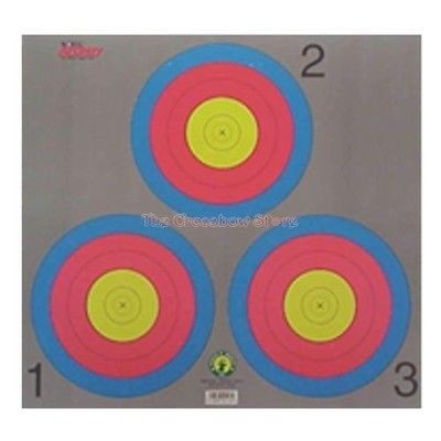 "Maple Leaf Grey 17"" x 17"" 3-Spot Vegas 20cm Circles Paper Archery Target"