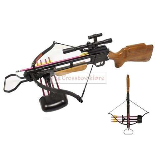 150lbs Pre-Strung Hunting Crossbow Laser Scope Package