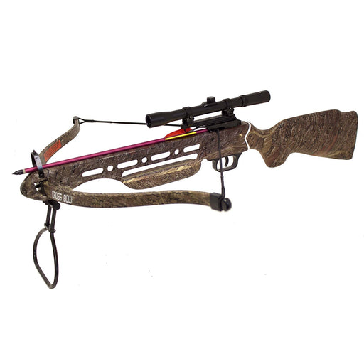 150 lbs Real Wooden Camo Hunting Crossbow 8 Arrow Scope
