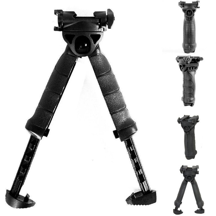 Tactical Rifle Foldable Foregrip Swivel Bipod