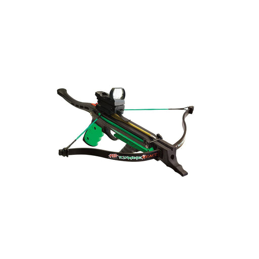 PSE Zombie React Pistol Crossbow Package with Red Dot Scope, Grip, Stringer More