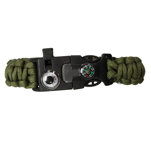 SAS Survival Paracord Bracelet with Whistle/Compass/Thermostat/Fire Starter