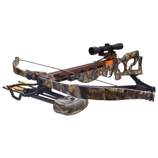 SAS Desert Hawk 225lbs Next G1 Camo Recurve Crossbow 4x32 Scope Package 330FPS