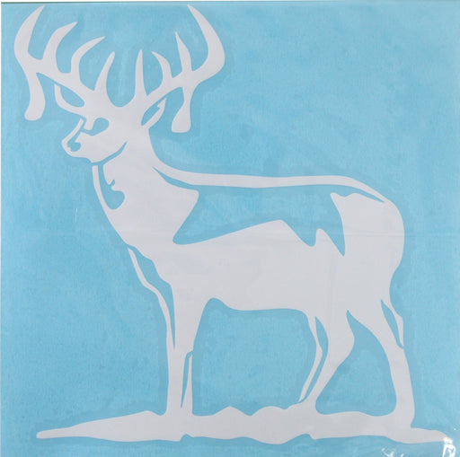 Just Decals Mule Deer Windows Sticker Hunting White Made in US