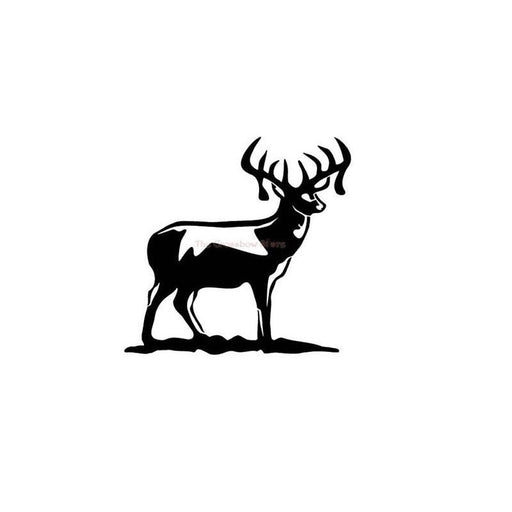 Just Decals Full Body Deer Car Windows Sticker Hunting White Made in US