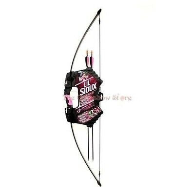 Barnett Lil Sioux 15lbs Pink Recurve Youth Girl Archrey Bow + Sight + 2 x Arrows