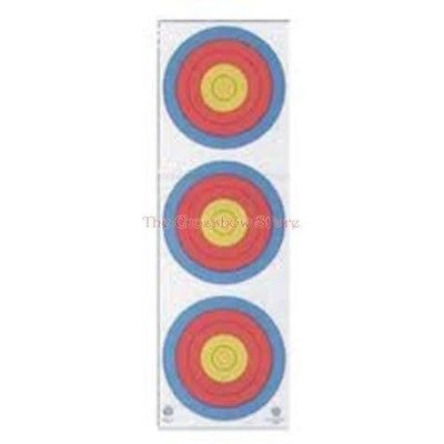 Maple Leaf 4-Color Fita Official 3-Spot Vertical Hunting Archery Target Face