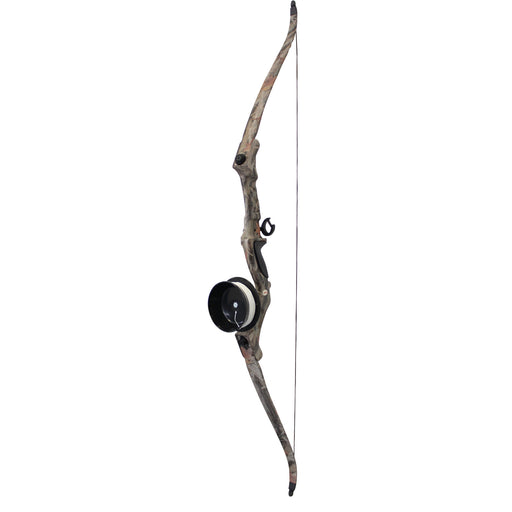 SAS Recurve Takedown Bowfishing Bow with Roller Rest, Reel with Line and Arrow