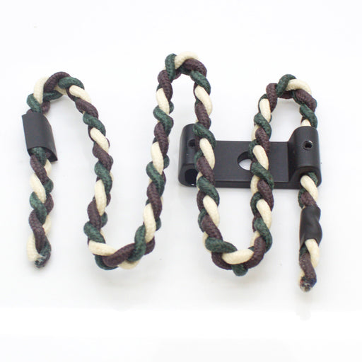 SAS Bow Sling Braided Cord with Aluminum Mount for Compound Bow